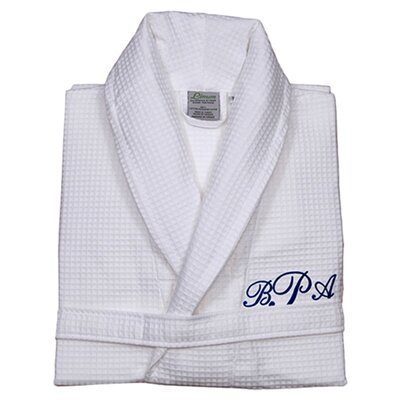 Personalized Waffle Bathrobe Size: Large/X-Large
