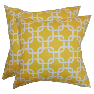 Quinn Pillow in Corn Yellow (Set of 2)