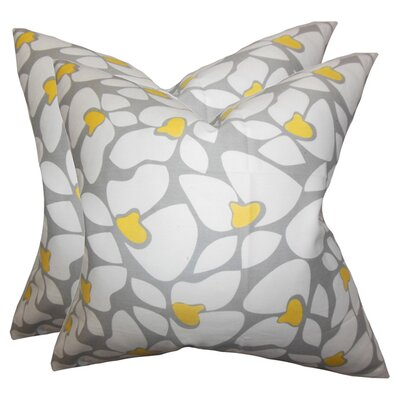 Daisy Cotton Throw Pillow (Set of 2)