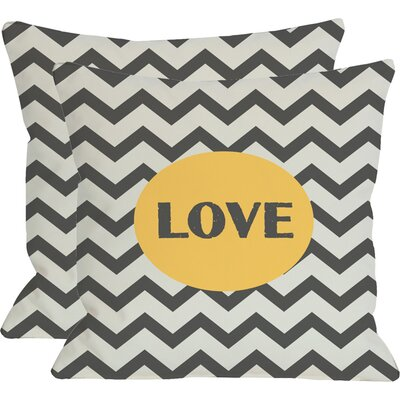 Love Reversible Throw Pillow