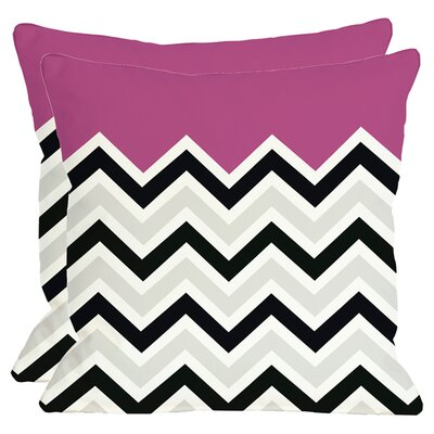 Aurelie Throw Pillow in Fuchsia