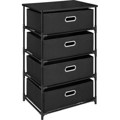 Bohnsack 4 Drawer Storage Unit End Table Color: Black
