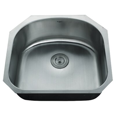 Stainless Steel 23.25 x 20.88 Undermount Kitchen Sink with NoiseDefend Soundproofing Arch  Bathroom Sink