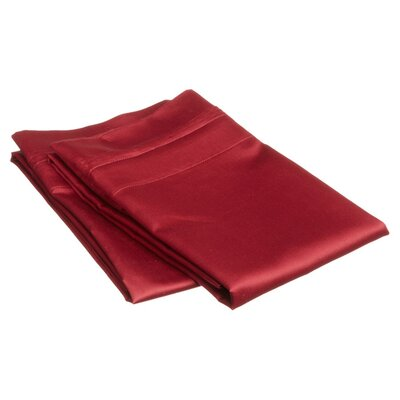 Superior Pillowcase Color: Burgundy, Size: King
