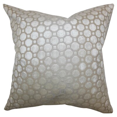 Kostya Velvet Throw Pillow Color: Pearl, Size: 18 x 18