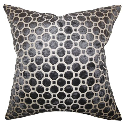 Kostya Velvet Throw Pillow Color: Black, Size: 18 x 18