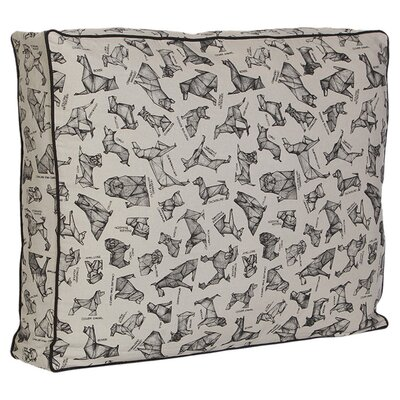 Origami Dog Pillow Size: Medium (20'' W x 25.5'' D x 5