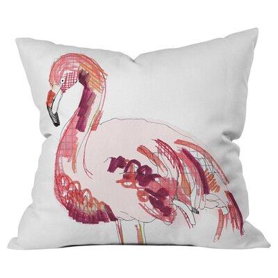 Flamingo 1 Out Throw Pillow