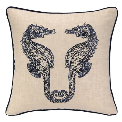 Double Seahorse Throw Pillow