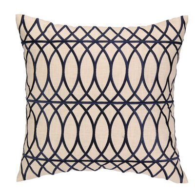 Regina Throw Pillow Color: Navy