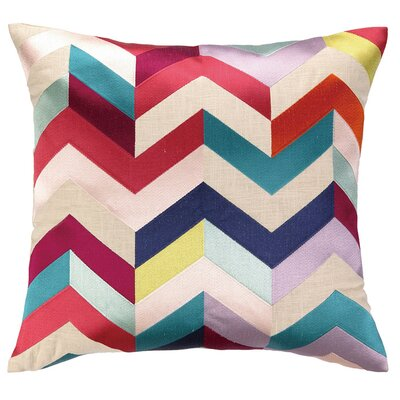 Brooke Throw Pillow Color: Red/Cream