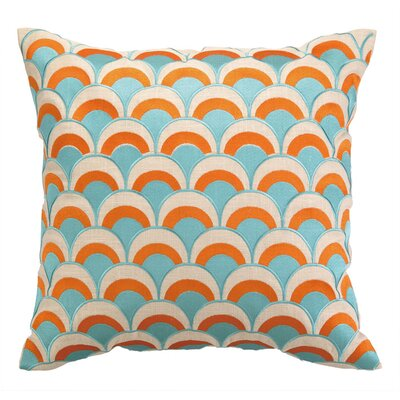 Heather Throw Pillow Color: Pumpkin