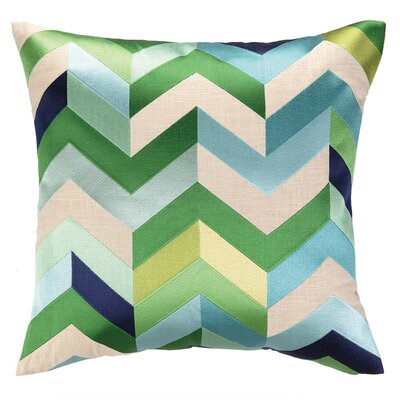 Brooke Throw Pillow Color: Blue/Green