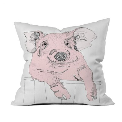 Piggywig Outdoor Throw Pillow