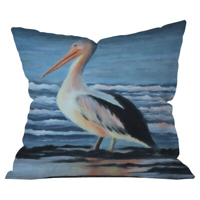 Pelican Wading 2 Throw Pillow