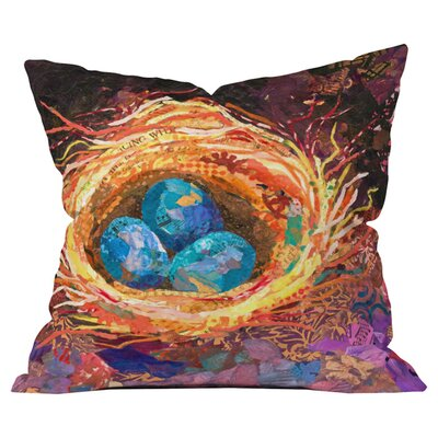Home Nest Outdoor Throw Pillow