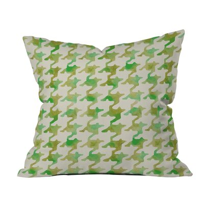 Watercolor Houndstooth Outdoor Throw Pillow