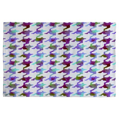 Houndstooth Amethyst Tundra Area Rug Rug Size: 2' x 3'