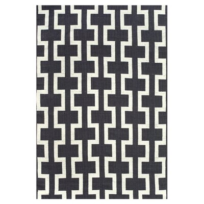 Sargasso Hand Woven Black/White Indoor/Outdoor Area Rug Rug Size: Rectangle 4 x 6