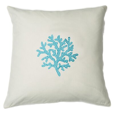Aquarius Linen Throw Pillow Color: While