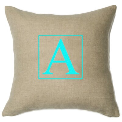 Personalized Aquarius Linen Throw Pillow