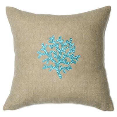 Aquarius Linen Throw Pillow Color: Light Aqua