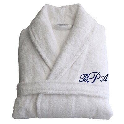 Personalized Terry Bathrobe in White Size: Small/Medium