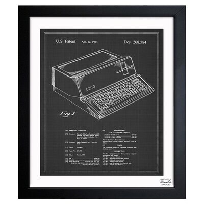 First Apple Personal Computer, 1983 Framed Canvas Print, Oliver Gal Size: 18 H x 15 W
