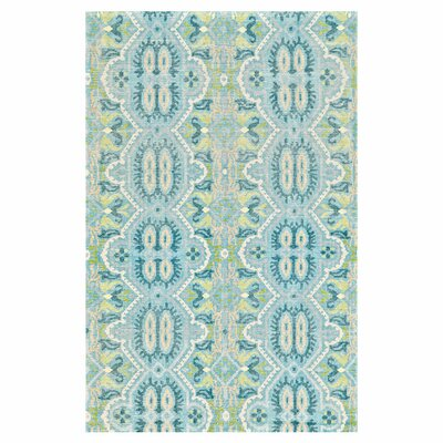 Latika Hand Knotted Wool Celadon Area Rug Rug Size: Rectangle 56 x 86
