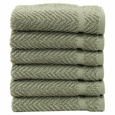 Gloria Washcloth in Light Olive