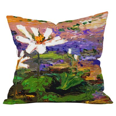Summer Lotus Garden Outdoor Throw Pillow