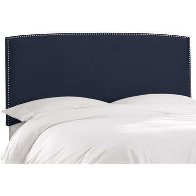 Mara Upholstered Panel Headboard Size: Twin, Upholstery: Regal Navy