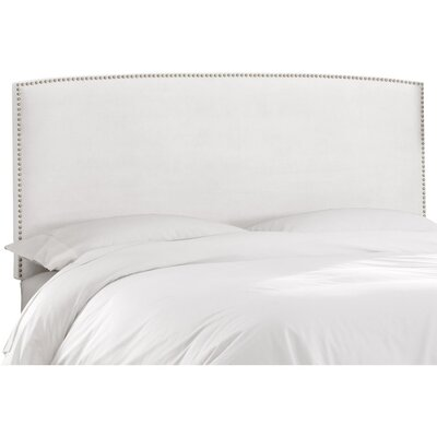 Mara Upholstered Panel Headboard Size: California King, Upholstery: White