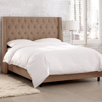 Charlotte Upholstered Panel Bed Size: King