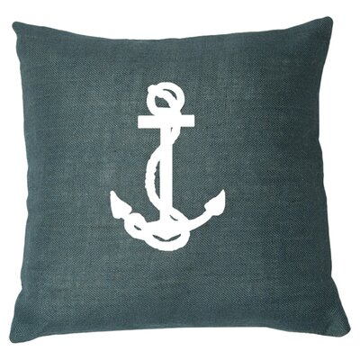 Ancre Throw Pillow Color: Navy / White