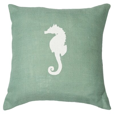 Seahorse Throw Pillow Color: Light Blue / White