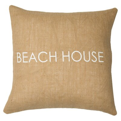 Beach House Throw Pillow Color: Natural / White