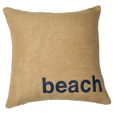 Beach Throw Pillow Color: Natural / Navy