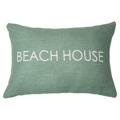 Beach House Lumbar Pillow Color: Light Blue / White