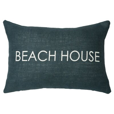 Beach House Lumbar Pillow Color: Navy / White