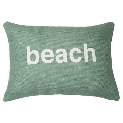 Beach Lumbar Pillow Color: Light Blue / White