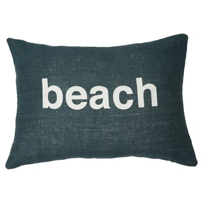 Beach Lumbar Pillow Color: Navy / White