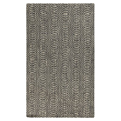 Pickerel Hand-Woven Pewter Area Rug Rug Size: 5 x 8