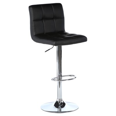 Grover Patch Adjustable Swivel Bar Stool with Cushion