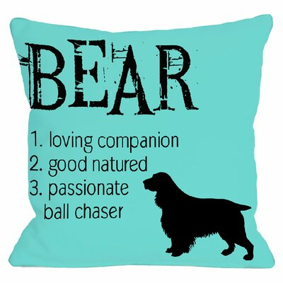 Personalized Bear Throw Pillow