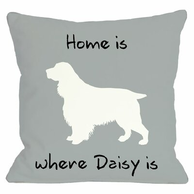 Personalized Home Is Where Throw Pillow
