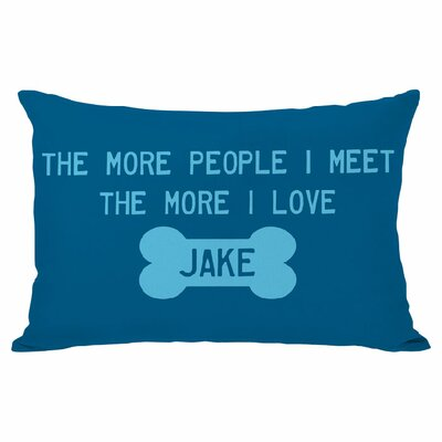 Personalized More People Lumbar Pillow