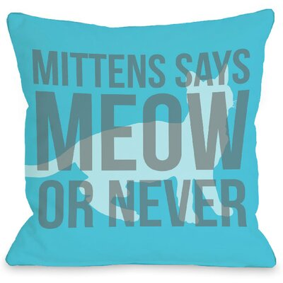Personalized Meow or Never Throw Pillow