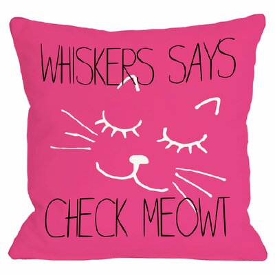 Personalized Check Meowt Throw Pillow