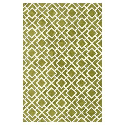 Green Area Rug Rug Size: Rectangle 23 x 39